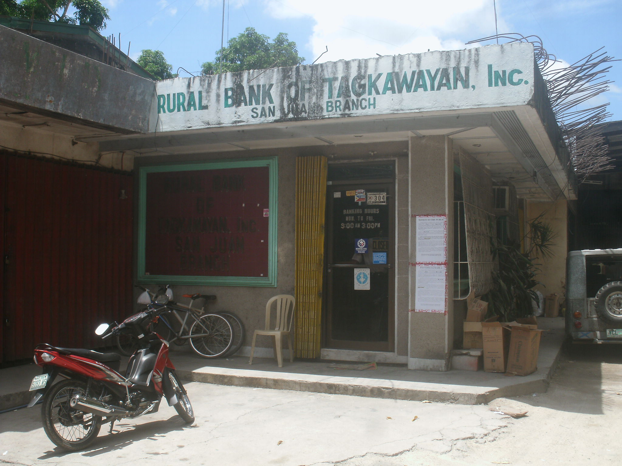 A rural bank in Southern Tagalog region that has recently been closed