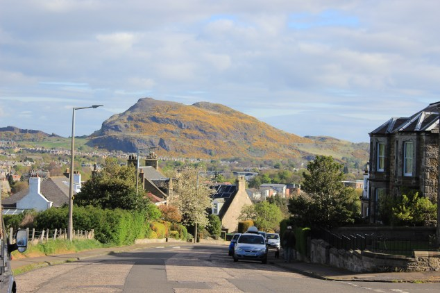 Arthur's seat view outside our place