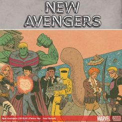 New Avengers (2015) #1 variant cover by Ed Piskor