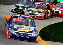 2012 Martinsville March NASCAR Camping World Truck Series Kevin Harvick Leads