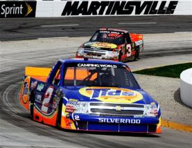 2012 Martinsville March NASCAR Camping World Truck Series Kevin Harvick Ty Dillon On Track