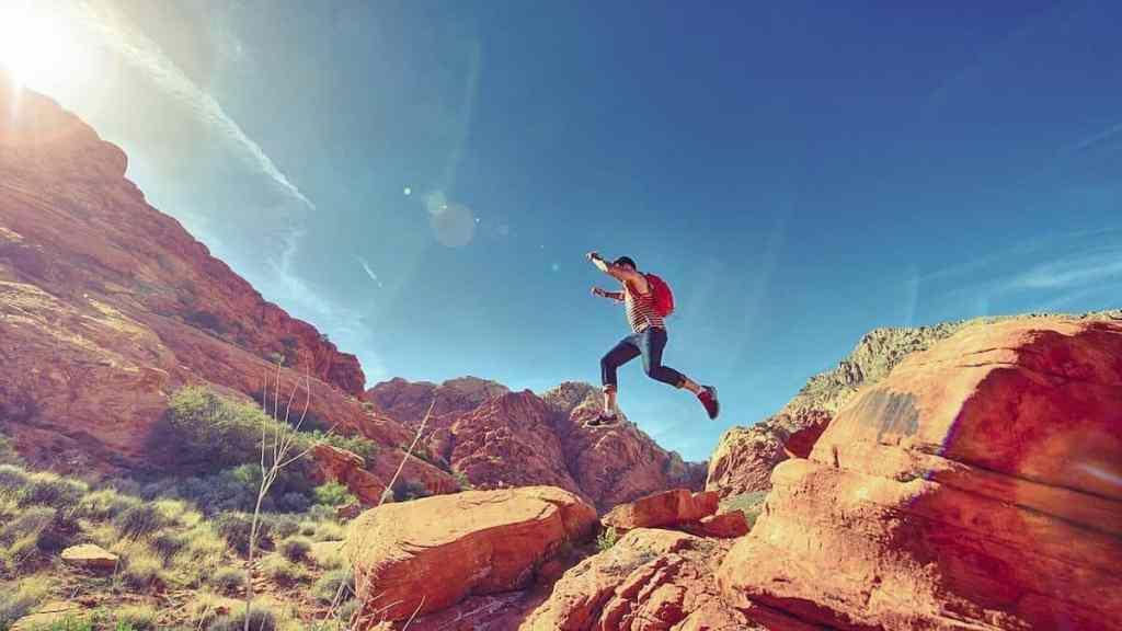 a man running a race