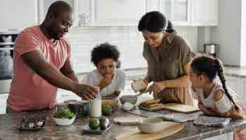 a family discussing how to retire at 50