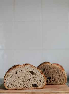 A picture of some freshly baked bread.