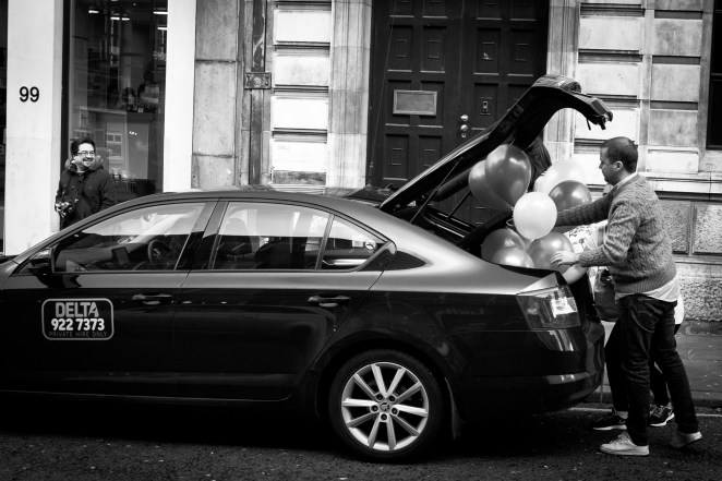 Balloons in a boot | Liverpool Photo Walk 2015