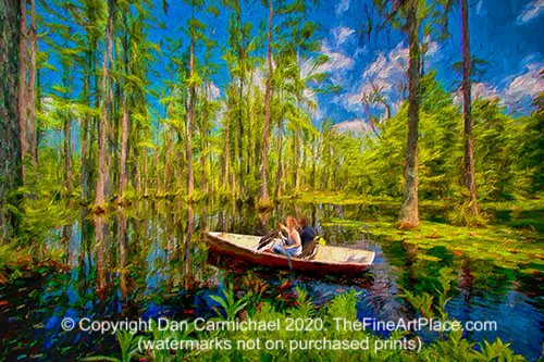 Cypress Gardens a cypress swamp in South Carolina.