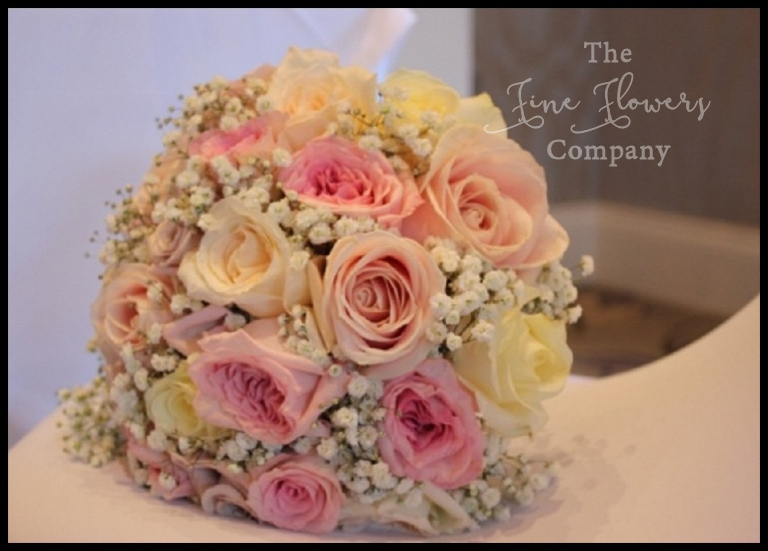 Pretty Pastel Pink Wedding Flowers At Royal Berkshire