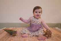 Girls Dress £12 Bed sheet (with pillowcases) £35 Coconut Fibre Animals from £5-£8