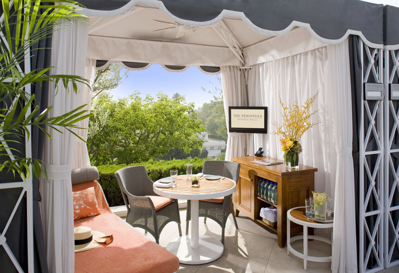 Peninsula Beverly Hills, pool cabana