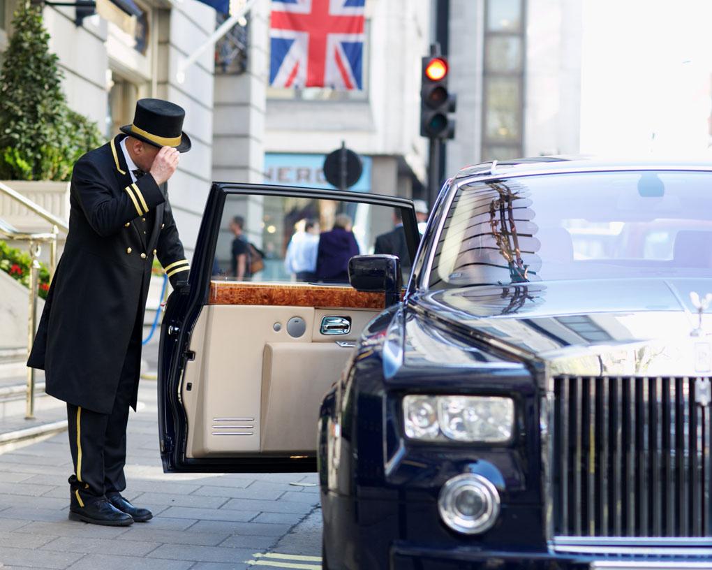 The Ritz London, doorman, Rolls Royce, luxury hotels
