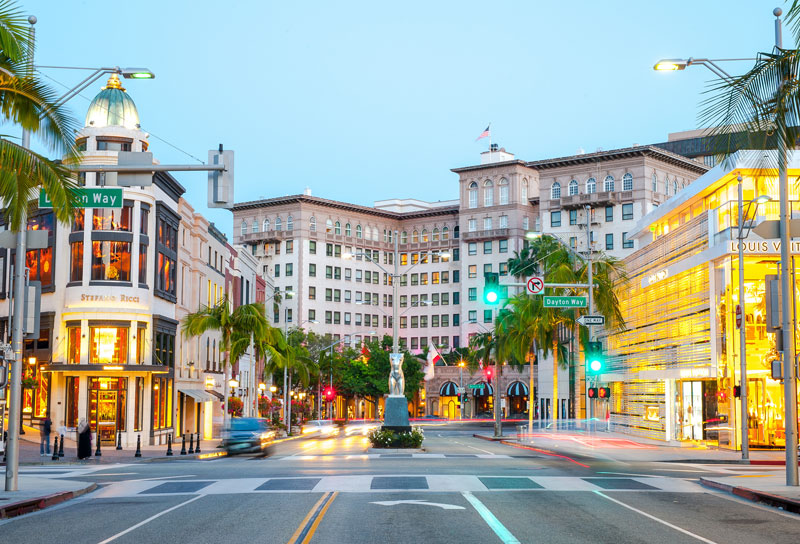 Rodeo Drive, Beverly Hills, Los Angeles, Love Beverly Hills, luxury shopping