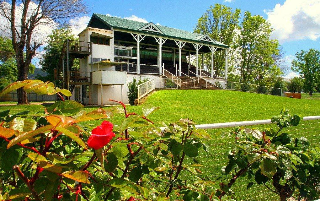 Towong Turf Club, grandstand, Tourism Victoria
