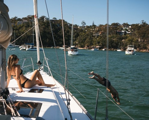 Sydney by Sail, romantic sail package, Sydney Harbour, sailing, luxury yacht
