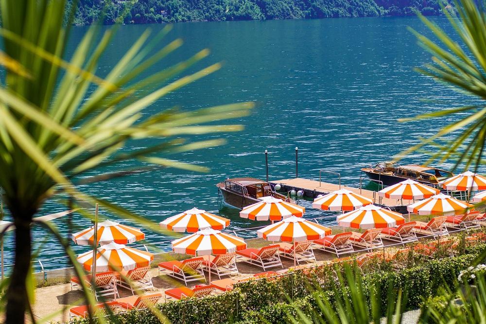 Lake Como, Italy, T Beach, Grand Hotel Tremezzo