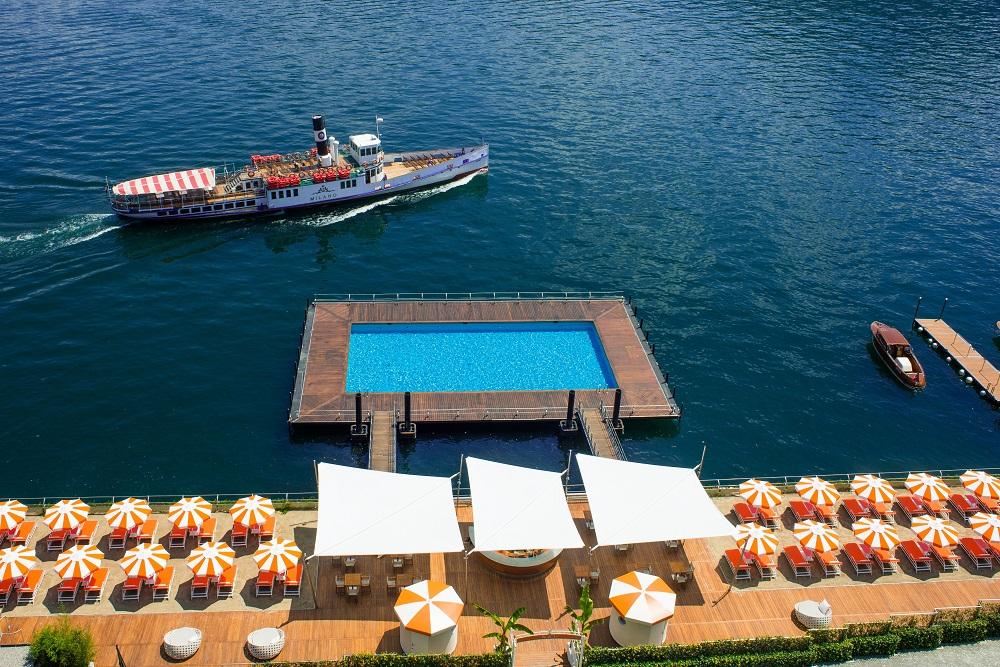 Italy, Lake Como, T Beach, Grand Hotel Tremezzo