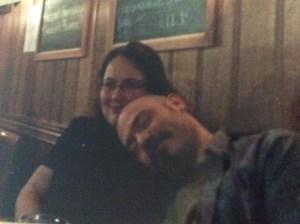 Snuggled up in a pub