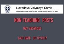NVS Non-Teaching posts, last date December 13, apply at nvshq.org