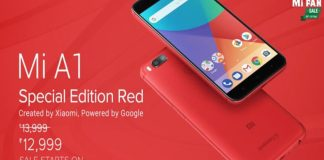 Xiaomi Mi A1 Special Edition Red Variant Launched in India For Rs 12,999/-