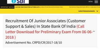 SBI Junior Associates exams New Time Table released, Download SBI JA exams Admit Card