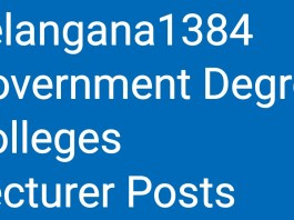 Telangana Govt Approved 1384 Government Degree Colleges Lecturer Posts
