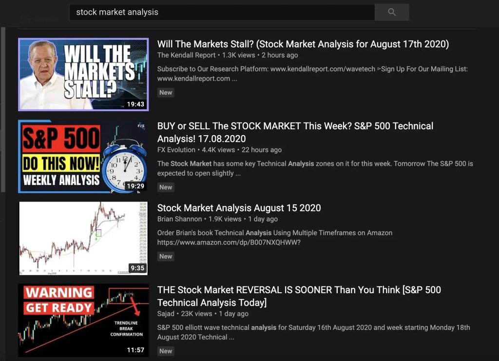 YouTube Stock Market Analysis