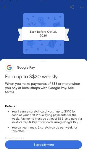 GooglePay Merchant Scratch Card