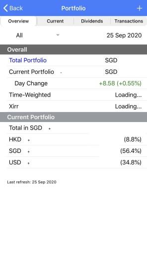 StocksCafe App Portfolio