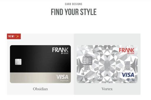 FRANK Credit Card Designs
