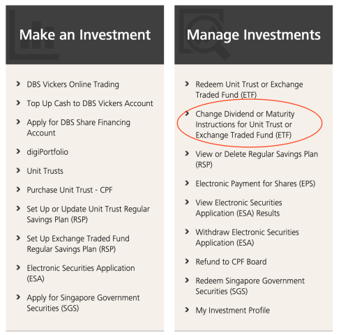 POSB DBS Invest Saver Change Dividend Web