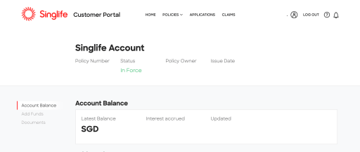 SingLife Online Portal 2