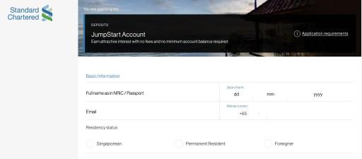 Standard Chartered JumpStart Apply