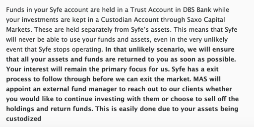 Syfe Fate of Assets If They Close Down
