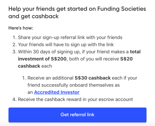 Funding Societies Referral