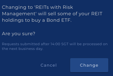 Syfe REITs with Risk Management