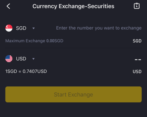 Tiger Brokers Exchange SGD to USD