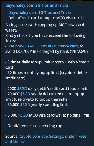 MCO Multi Currency Card To Top Up