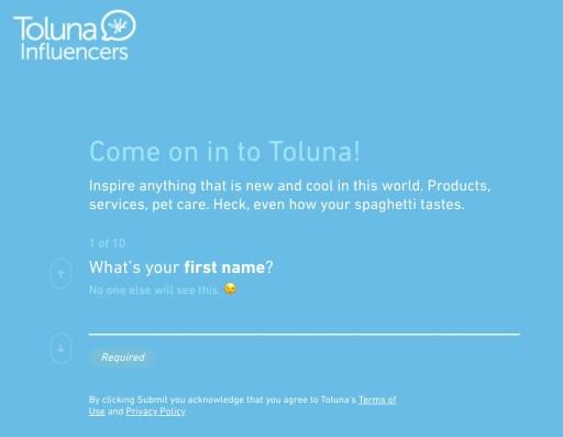 Toluna Sign Up