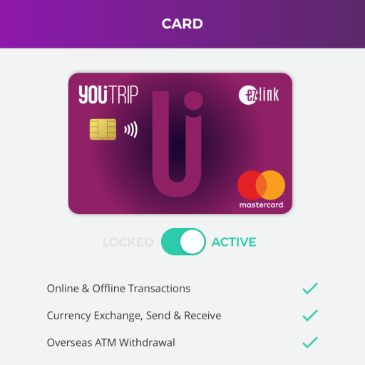 YouTrip Lock Card