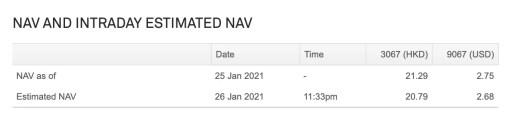 3067 vs 9067 NAV Jan 2020