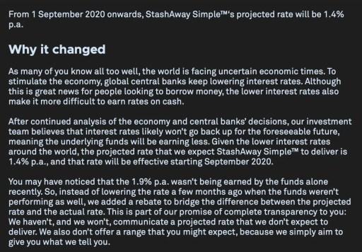 StashAway Simple Drop In Returns