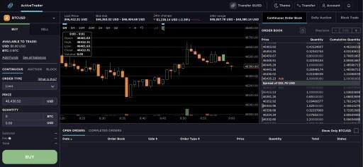 Gemini Active Trader Platform