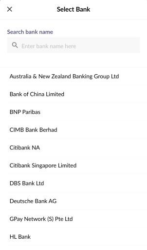Singtel Dash Select Banks