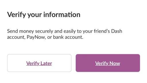 Singtel Dash Verify Account