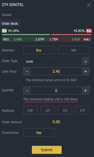 Z74 Tiger Brokers Minimum Units