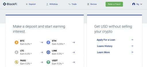 BlockFi Web Platform