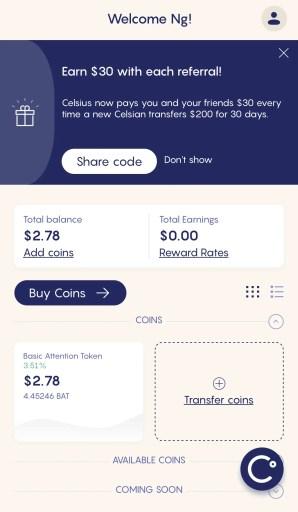 Celsius Mobile App