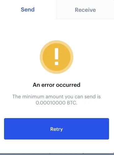 Coinbase Minimum Amount Of BTC To Send
