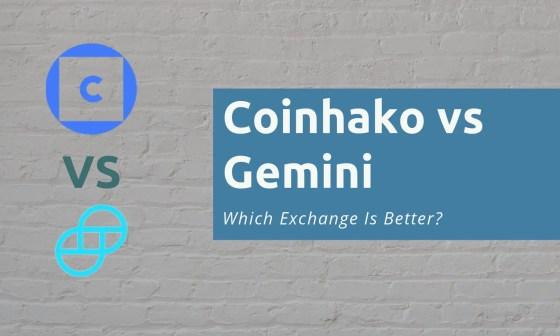 Coinhako vs Gemini 1
