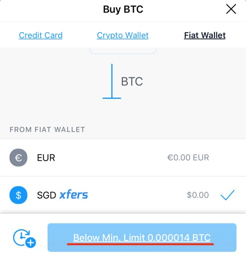 Crypto.com Crypto Minimum Purchase