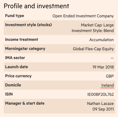Dimensional World Equity Fund Fund Domicile